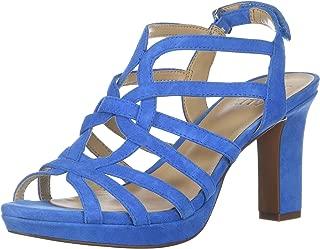 Women's Flora Heeled Sandal,Blue,7 M US