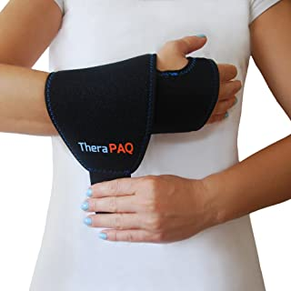 Wrist Ice Pack Wrap by TheraPAQ: Hand Support Brace with Reusable Gel Pack - Hot & Cold Therapy Relief from Carpal Tunnel Pain, Rheumatoid Arthritis, Tendonitis, Injuries, Swelling, Bruises & Sprains