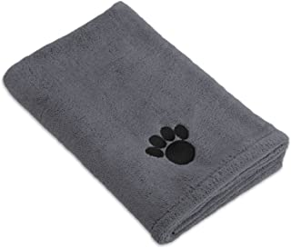 Bone Dry DII Microfiber Dog Bath Towel with Embroidered...
