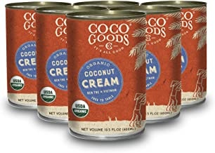 CocoGoodsCo Vietnam Single-Origin Organic Coconut Cream 13.5 fl. oz - Gluten-free, Non-GMO, Vegan, & Dairy-free (Pack of 6)