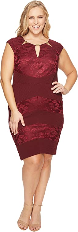 Plus Size Cut Out Sheath Dress