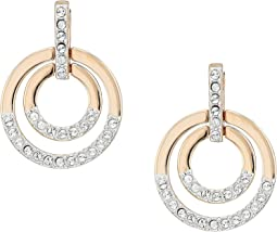 Swarovski - Medium Circle Pierced Earrings
