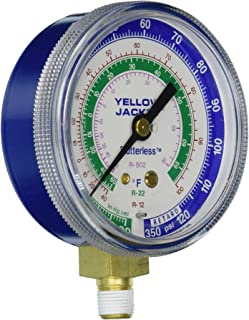 Yellow Jacket 49002 2-1/2 Gauge (Degrees F), Blue Compound, 30, 0-120 (Retard Protection to 350 psi), R-12/22/502