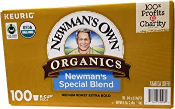 Newman's Own Special Extra Bold Blend Coffee Single-Serve K-Cups, Medium Roast, 100 Count (Packaging May Vary) - PACK OF 2
