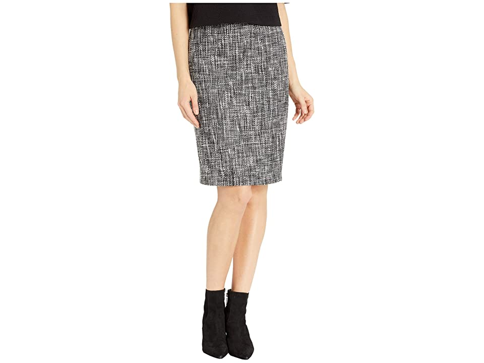 Calvin Klein Woven Skirt (Charcoal Multi) Women