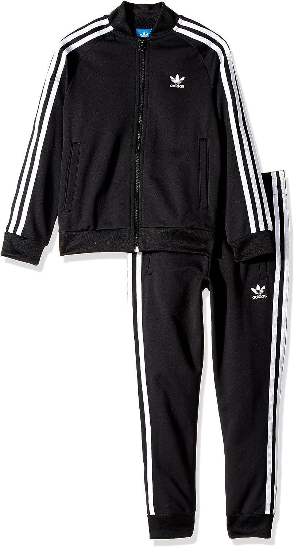 Agrícola historia robo  Amazon.com: adidas Originals Outerwear Big Kids Superstar Track Suit,  Black/White, Small: Clothing