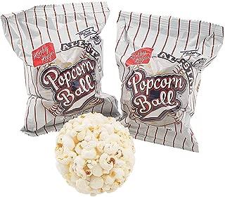 Baseball Popcorn Balls - 24 Pack (Individually Wrapped)