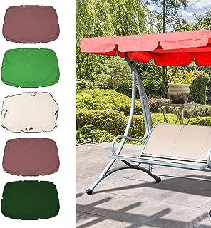 KKmoon Swing Canopy Cover Bench Top Replacement Sun Shade Cover Waterproof Swing Canopy Cover Decor for Outdoor Garden Pat...