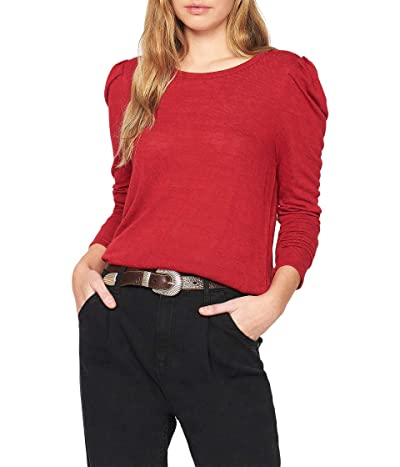 Sanctuary Pleated Long Sleeve Tee (Tartan Red) Women