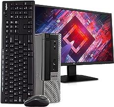 """Dell Optiplex 9020 Ultra Small PC Desktop Computer, Intel Quad Core i5, 8GB RAM, 256GB SSD, Windows 10, New 23.6"""" FHD LED ..."""