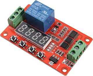 UHPPOTE DC12V 1 Channel Loop Delay Timer Switch Self-Locking Multifunction Relay Module