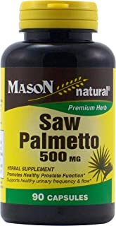 MASON NATURAL, Saw Palmetto 500 mg Capsules - 90 ea