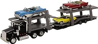 Nueva Ray - 15215 Bss - Vehículo Ready - Modelo para la Escala - American Truck Transporte Auto 3 Coches Antiguos - Escala 1/43
