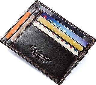 HASAGEI Tarjetero Hombre Cartera Hombre Pequeña de Cuero Tarjeteros para Tarjetas de Crédito RFID Monedero para Mujer u Ho...