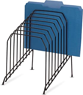 Officemate Large Incline Sorter, 8 Compartment, Wire, 8.5 x 10.375 x 12.625 Inches, Black (25212)