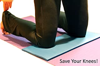 Thrive On Wellness Exercise Mini-Mat for Joint Support - Comfort on Knees, Wrists, Hips, Spine & Elbows, with Mat Spray Cleaner, Best Yoga Knee Pad for Pilates, Yoga, P90x & Stretch