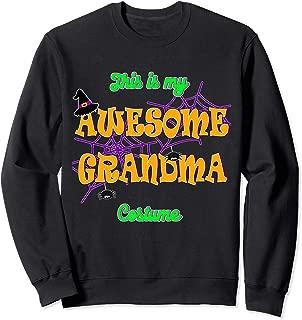 This is my Awesome Grandma Halloween Costume Sweatshirt