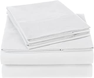 Pinzon 300 Thread Count Organic Cotton Sheet Set, 100% Cotton, White, California King
