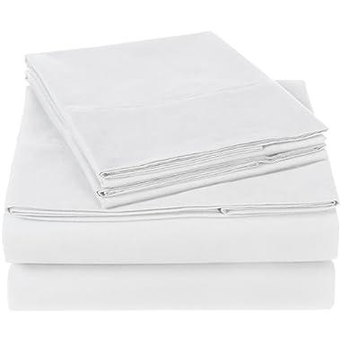 Pinzon 300 Thread Count Organic Cotton Bed Sheet Set - Queen, White