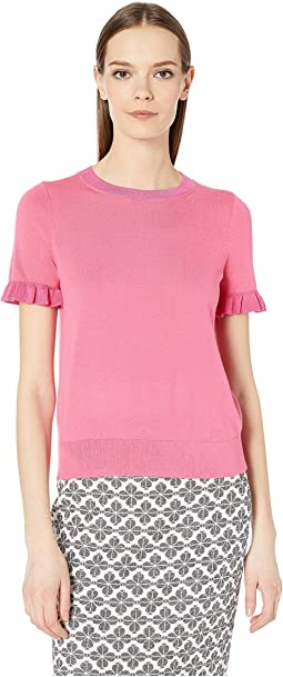 Ruffle Short Sleeve Sweater