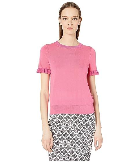 Kate Spade New York Ruffle Short Sleeve Sweater