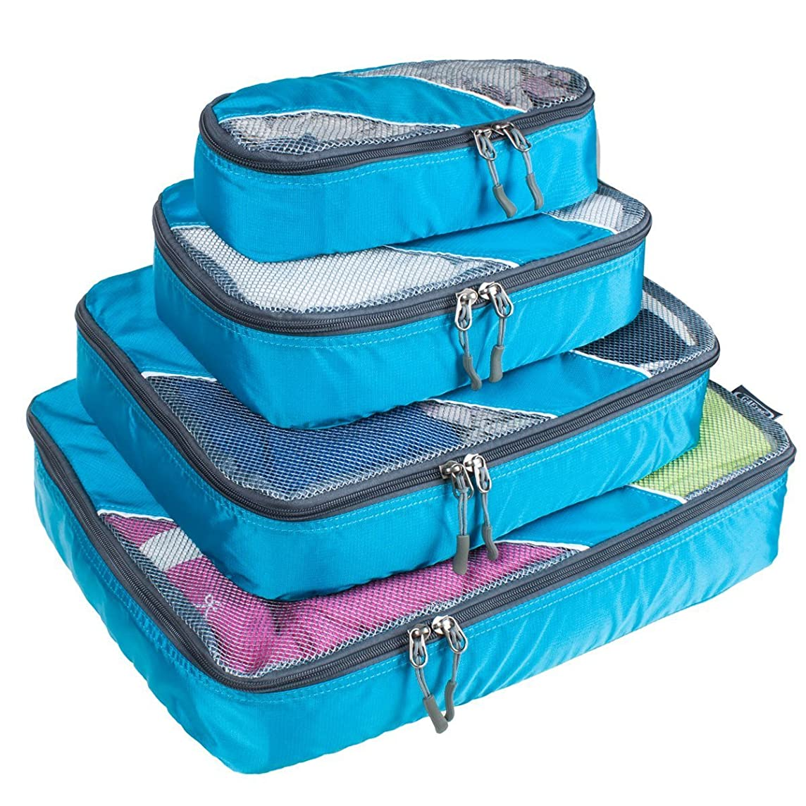 G4Free 4Pcs/6Pcs Set Packing Cubes, Travel Luggage Backpack Packing Organizers with Different Set