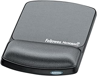 Fellowes Gel Wrist Rest & Mouse Pad with Microban, Grey - 9175101