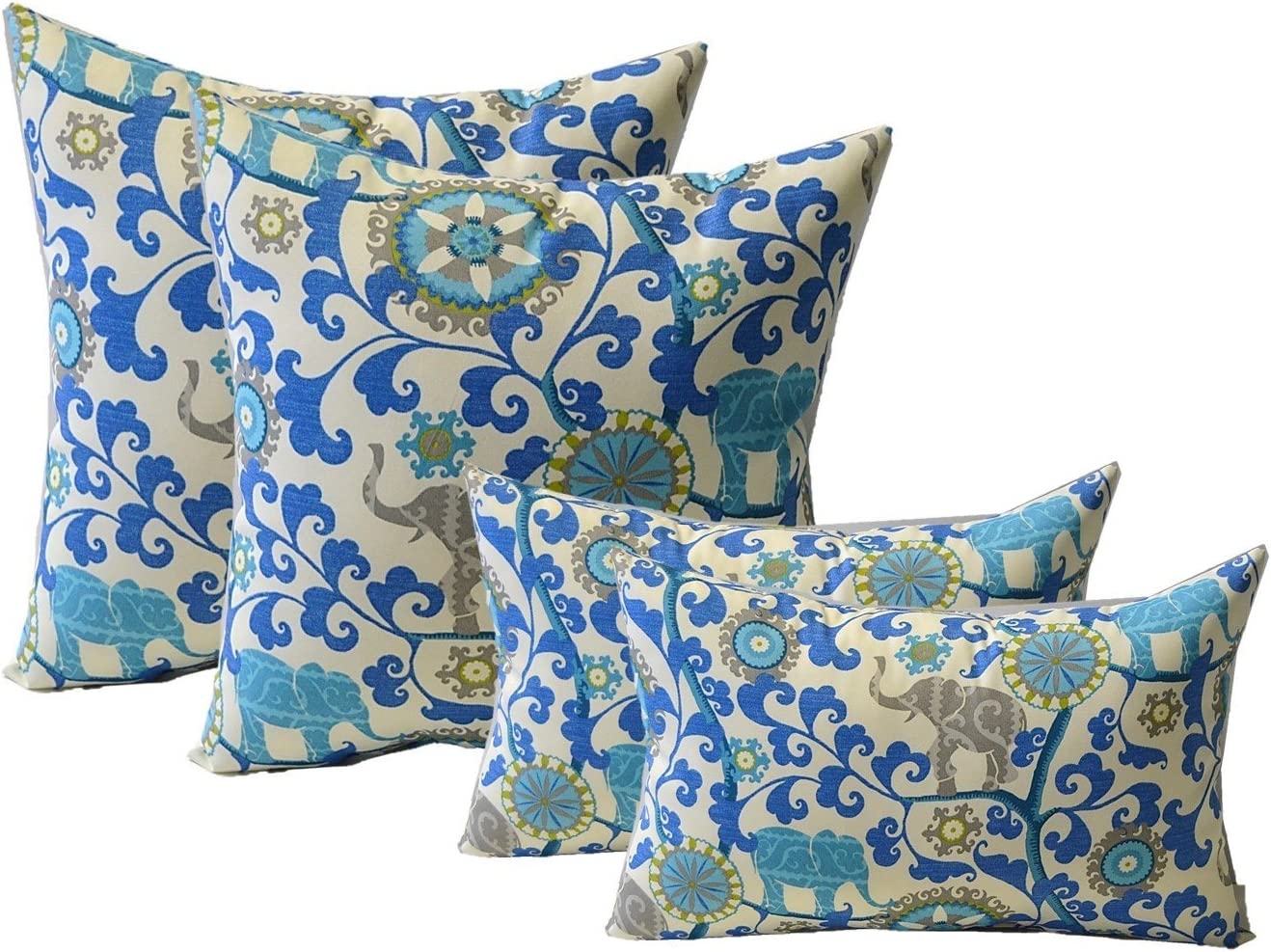 Set of 4 Indoor Outdoor Pillows Square Throw R - Atlanta Mall Very popular 20