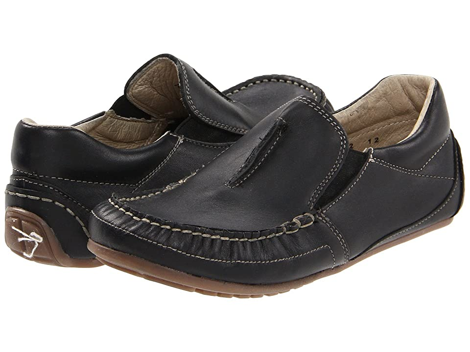 Kid Express Colton (Toddler/Little Kid) (Black Leather) Boys Shoes