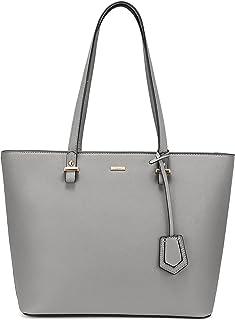LOVEVOOK Handtasche Damen Schultertasche Handtaschen Tragetasche Damen Groß Designer Elegant Umhängetasche Henkeltasche Grau