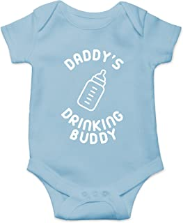Daddy's Drinking Buddy Funny Cute Novelty Infant One-Piece Baby Bodysuit