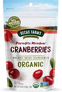Decas Farms Organic Premium Dried Cranberries, 5-Ounce