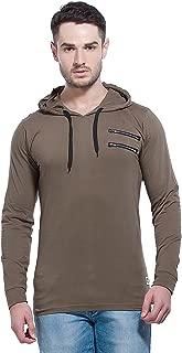 Alan Jones Men's Cotton Full Sleeves Hooded T-Shirt
