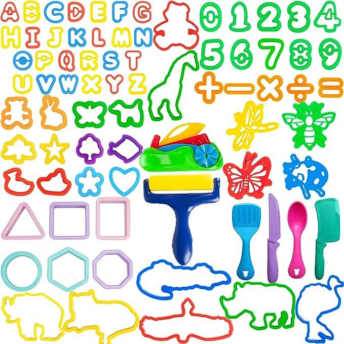 45 opinioni per LEXINCHENG 77 PCS Kit di Strumenti per Pasta di Argilla per Bambini, Vari stampi