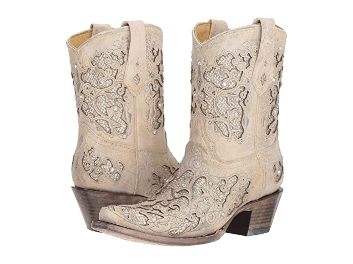 Corral Boots A3550 White Glitter Western Wedding Boots