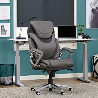 Serta Air Health and Wellness Executive Office Chair, Grey, Light Gray