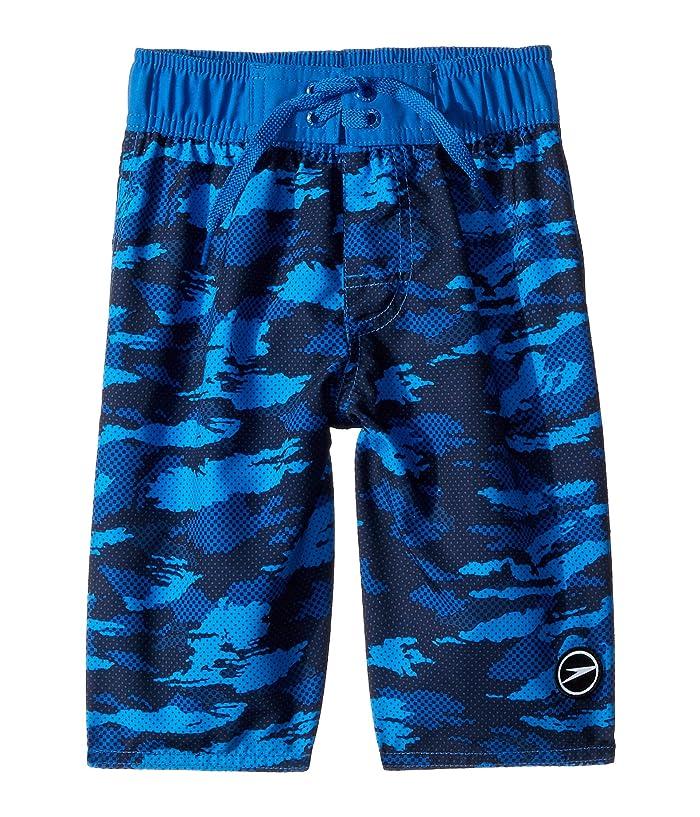 Speedo Kids  Crush It Camo Comfort Liner Volley (Little Kids/Big Kids) (Classic Blue) Boys Swimwear