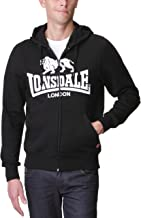 Lonsdale Basic Hooded zipsweater Krafty with Legendary Lonsdale Lion Logo chestprinting