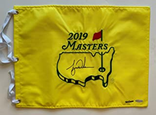 Tiger Woods Autographed 2019 Masters Pin Flag signed Authenticate - Upper Deck Certified - Autographed Golf Pin Flags