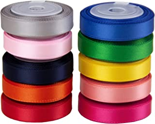 VATIN Solid Color Double Sided Polyester Satin Ribbon 10 Colors 3/8
