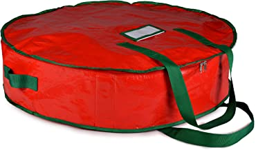 Christmas Wreath Storage Bag - 30 X 7 - Durable Tarp Material Zippered Reinforced Handle and Easy to Slip the wreath In an...