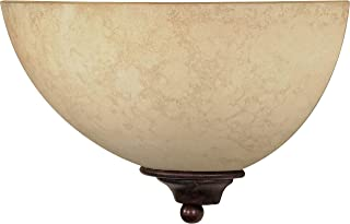 Nuvo 60 044 One Light Wall Sconce with Tuscan Suede Glass, Old Bronze 2 pack