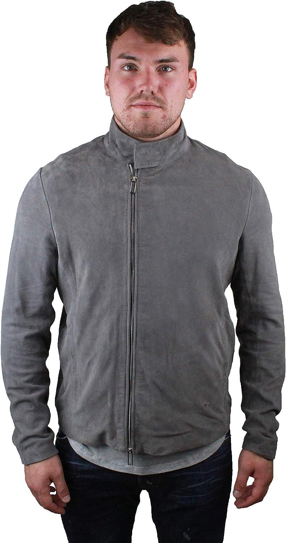 Emporio Armani chaqueta cazadoras de hombre en piel nuevo gris EU 50 (UK 40) 3Z1BM7 1LBBZ 0645