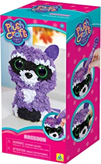 Orb Factory 73374 Raccoon Plush Craft Fabric Fun 3D Kit, Multicolor
