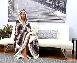 Chic Home Derek BRAND NEW!! Ultra plush sherpa lined Snuggle up animal print hoodie wearable blanket 51