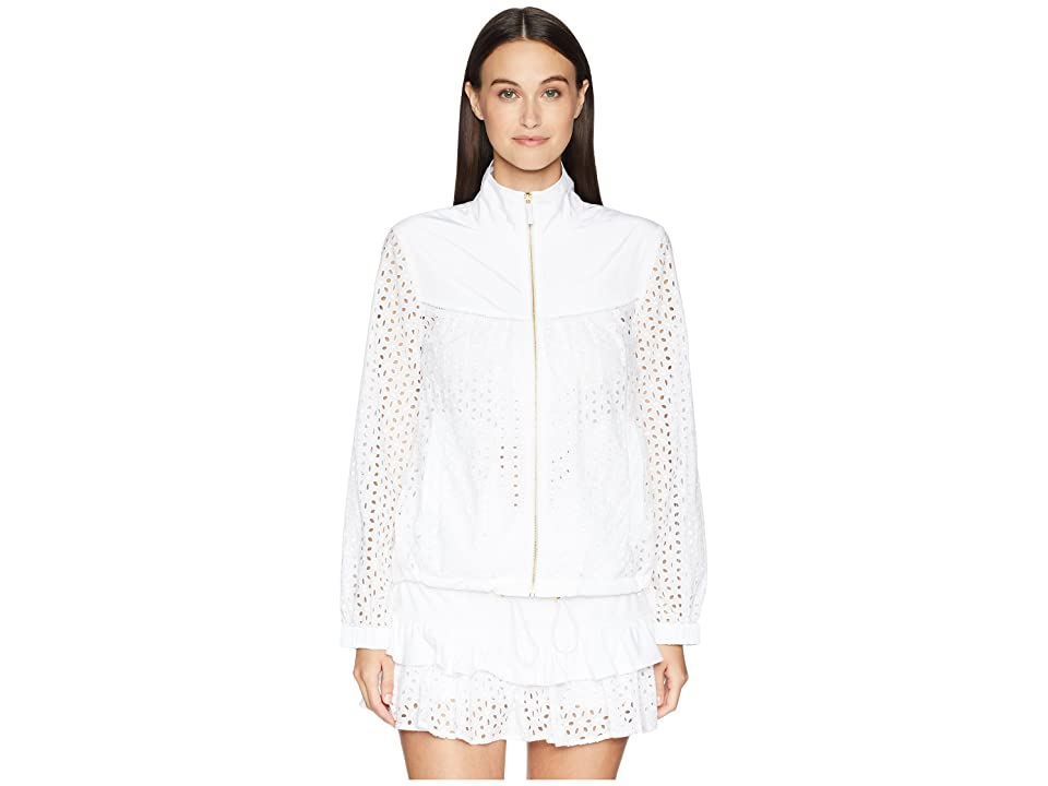 Kate Spade New York Athleisure Eyelet Anorak (Fresh White) Women