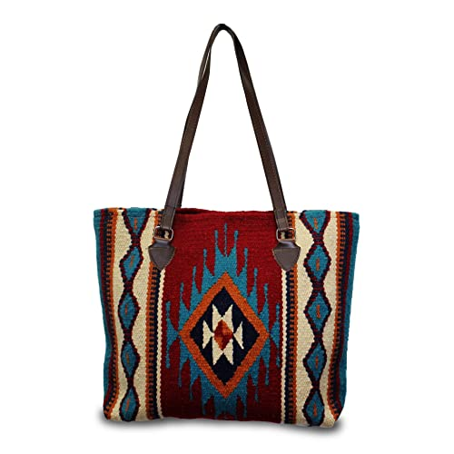 02090a5e0490 Southwest Boutique Wool Tote Purse Bag Native American Western Style  Handwoven