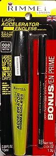 Rimmel Lash Accelerator Endless Mascara 003 Extreme Black - Bonus Soft Kohl Kajal Eye Pencil Jet Black