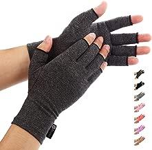 Duerer Arthritis Gloves Women Men for RSI, Carpal Tunnel, Rheumatiod, Tendonitis, Fingerless Hand Thumb Compression Gloves Small Medium Large XL for Pain Relief (Medium, Black)