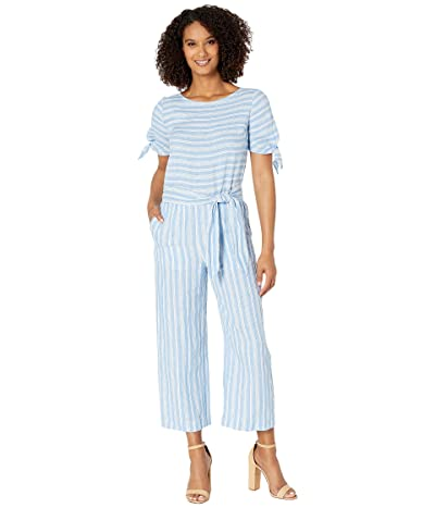 LAUREN Ralph Lauren Striped Linen Jumpsuit (Blue) Women